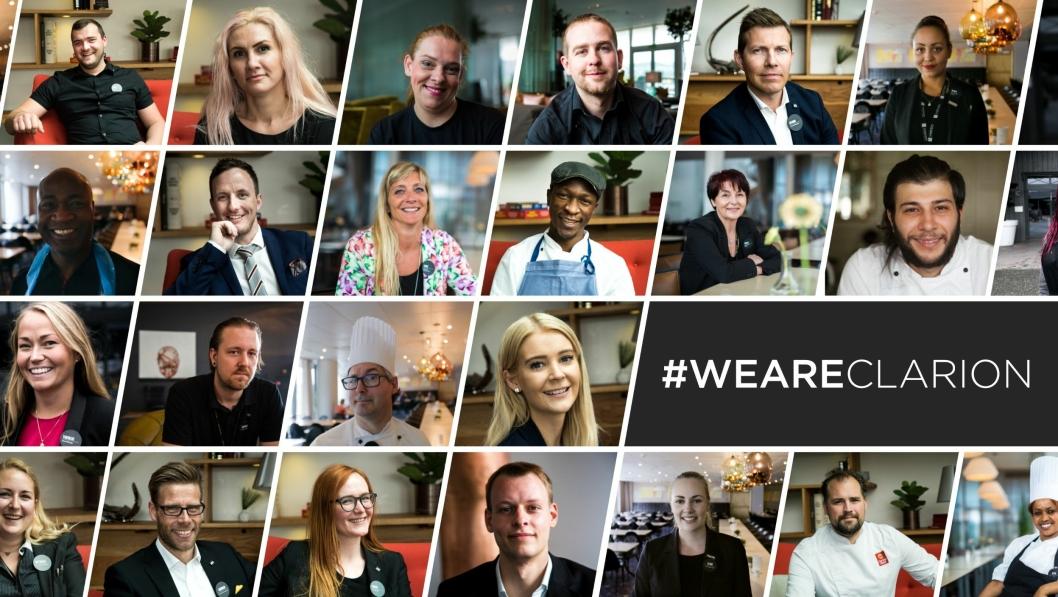 """FOLKENE: WeAreClarion er en """"annerledes"""" kampanje som løfter frem de mange flotte ansatte på Clarion-hotellene. Søk etter WeAreClarion på Facebook eller Youtube og du skjønner hva vi mener."""