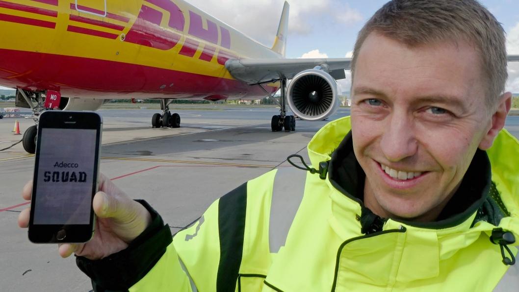 – For oss er gjerne behovet for folk akutt, og da er appen fantastisk, sier driftsansvarlig Anders Axelsson i DHL.