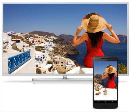 INNEBYGGET: Med innebygget Chromecast blir det enkelt for gjestene å se sitt favorittinnhold, og billigere for hotellet.