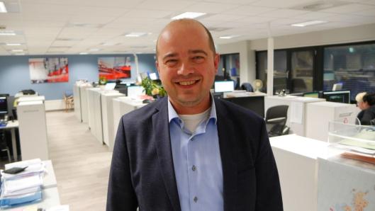 FORNØYD: Administrerende direktør Erlend Pekeberg er fornøyd med fusjoneringsprosessen.