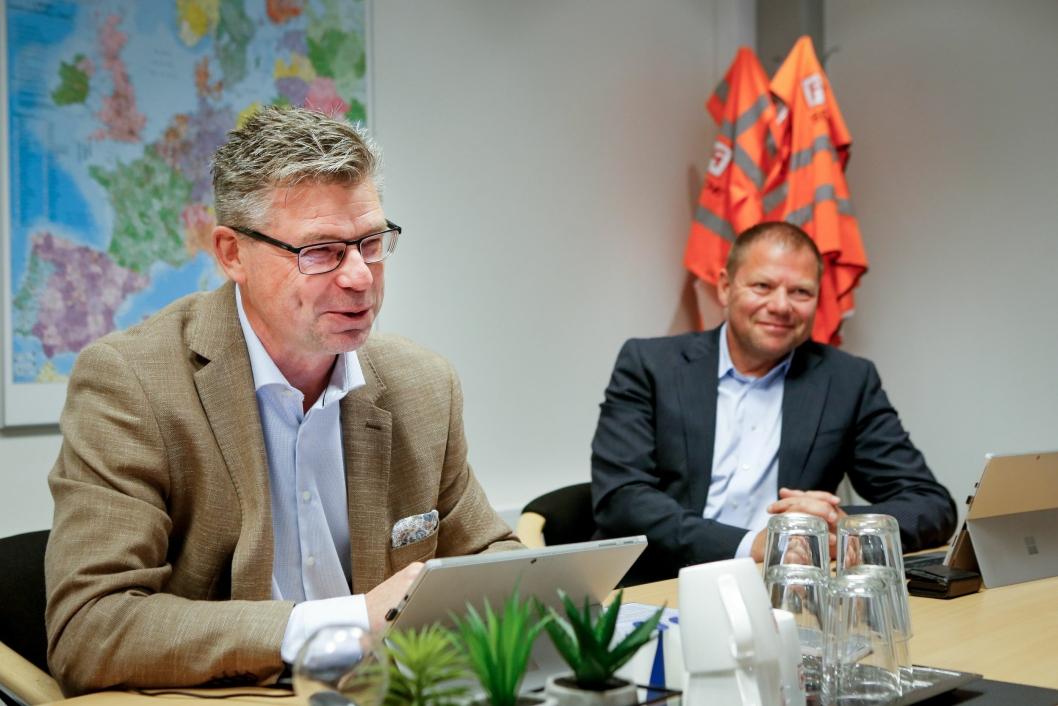 FORNØYD: Kjell-Arne Eloranta (t.v.) og Geir Kluge Heiermo, salg- og markedsdirektør i FREJA, er meget godt fornøyd med samarbeidet med B. Braun.