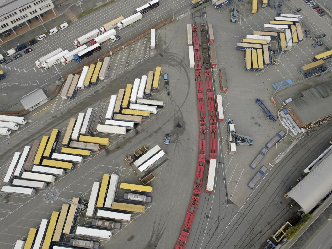 KIEL SOM HUB: Transportgiganten DSV er en av aktørene som har sett verdien av å benytte Kiel som hub.