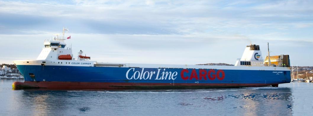CARRIER: Color Carrier går mellom Oslo og Kiel og kan ta alle typer last, også kjemikalier og farlig last.
