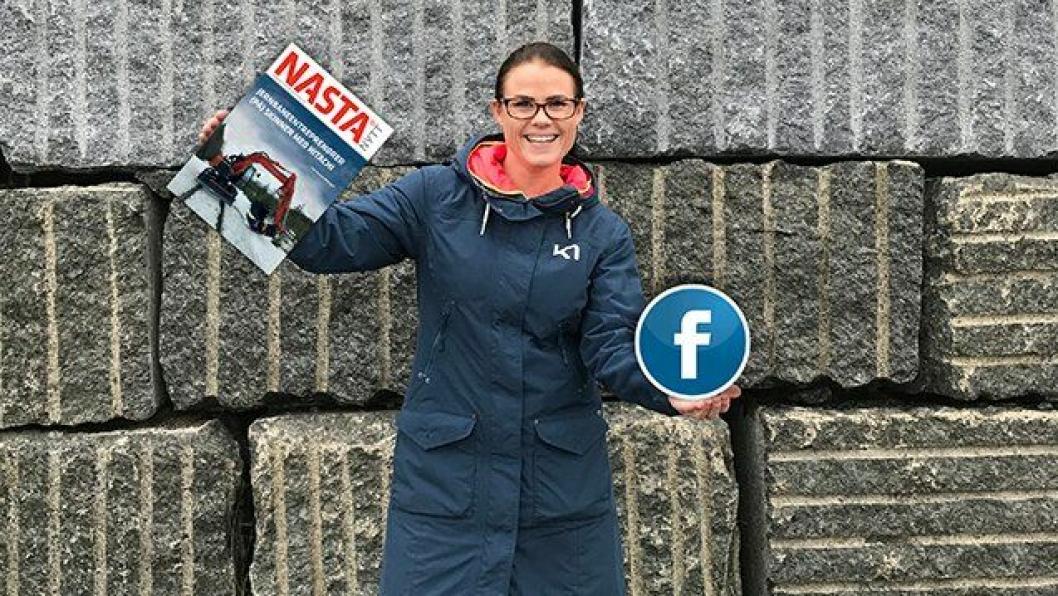 Nyansatt markedskoordinator i Nasta AS, Christina Skårhaug Andersen, skal være med på å gi selskapet økt synlighet på Facebook, Instagram og Linkedin. Foto: Nasta