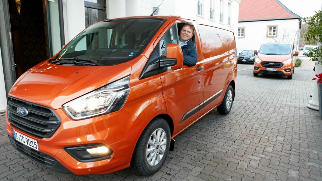 Johnny Løvli i Ford Norge er fornøyd med den nye bilen som kommer til Norge i mars 2018.