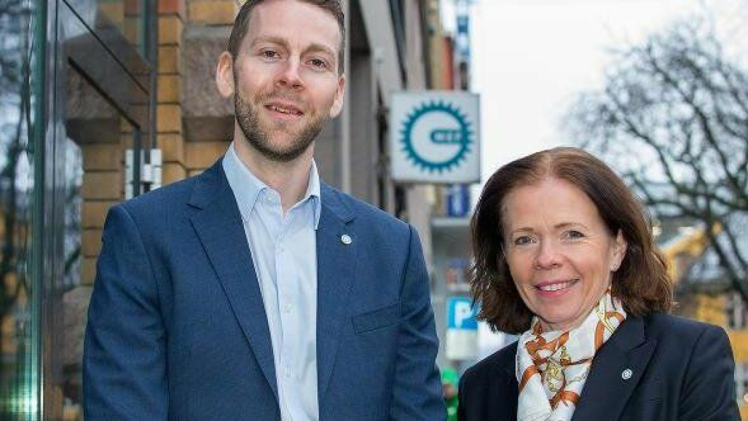 Håvard Almås og Eva Skaar i MEF. Foto: Jørn Søderholm, Anleggsmaskinen