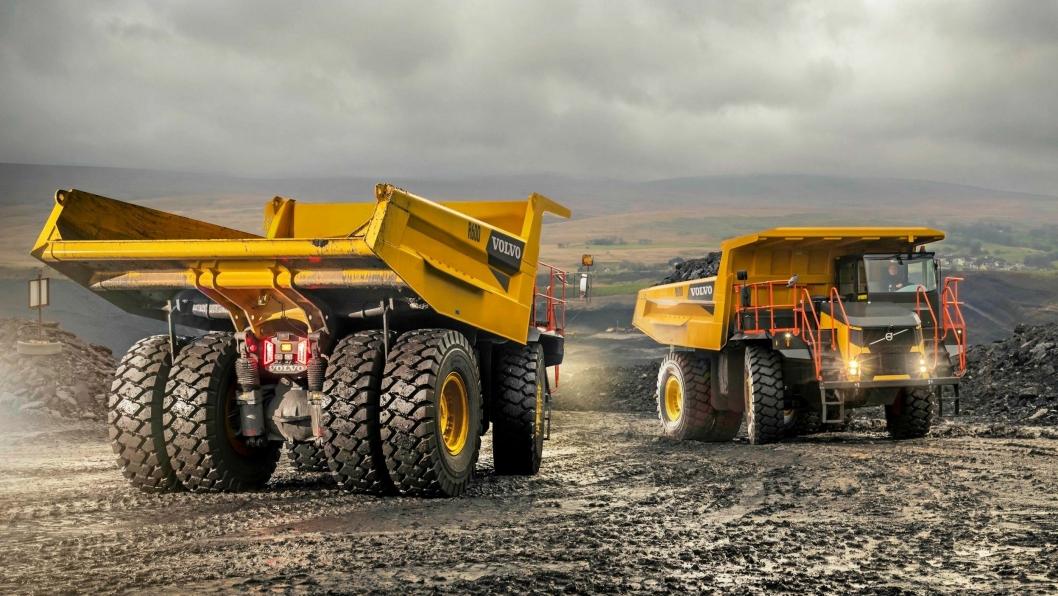 SLIK SER DE UT: Flere år etter oppkjøpet av Terex dumperdivisjon, lanserer Volvo tipptruckene i Volvo-drakt.
