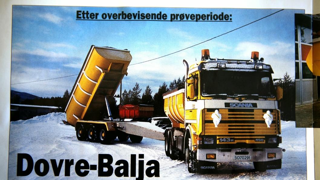 Bil og kjerre med Felt-testede Dovre-Baljer. Det ryktes at da asfaltmannskapene flyttet, «forlangte» de å få med Dombås-bilene.