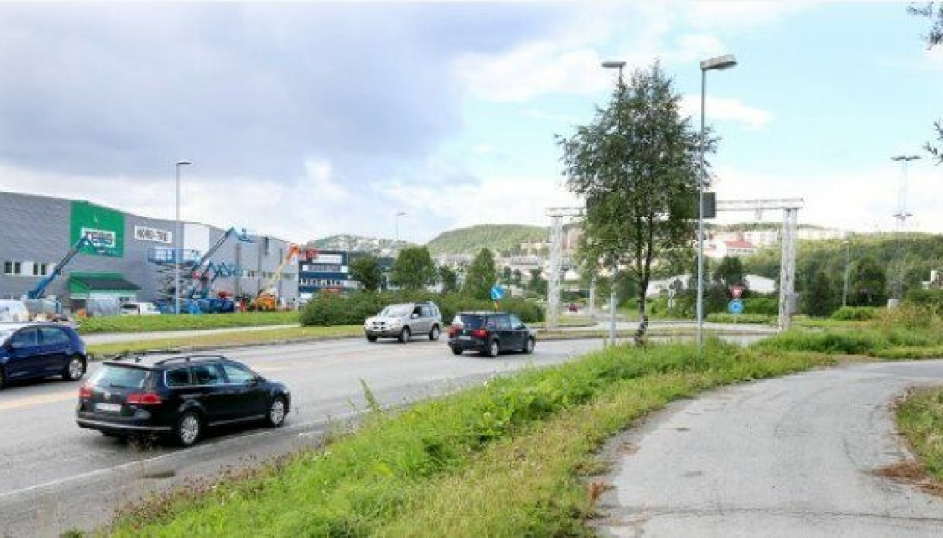 Prosjektet med ny vei på Gimle og bedre tilgang til havneområdet i Breivika starter like nord for rundkjøringen nedenfor Universitetssykehuset Nord-Norge i Tromsø.