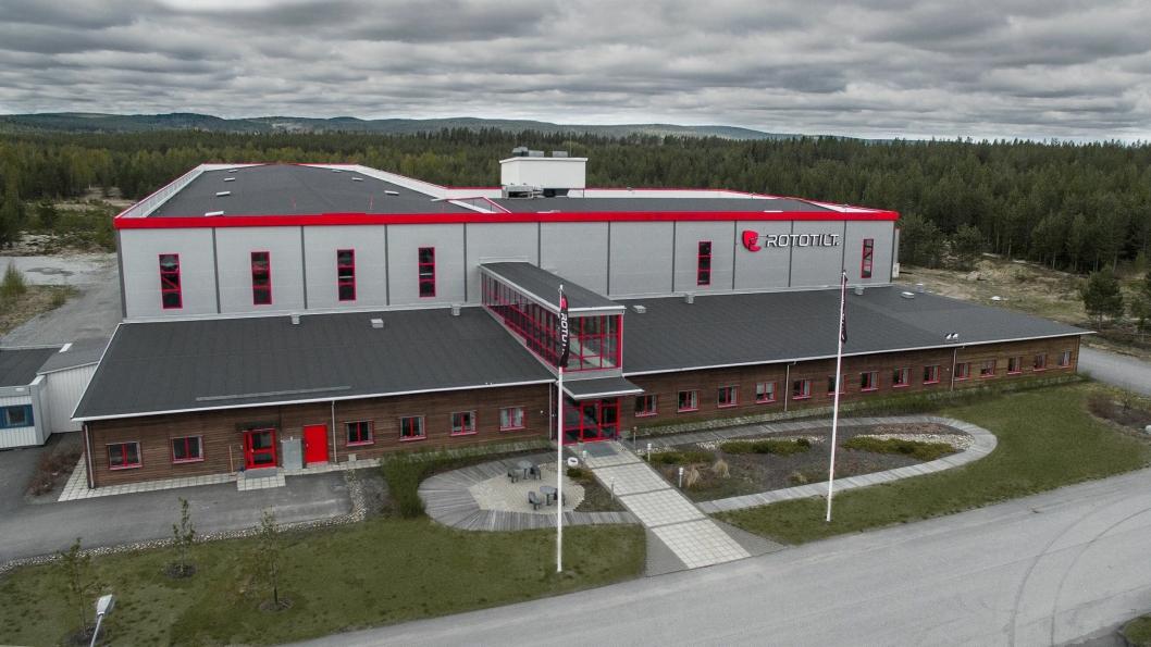 Bilde av fabrikken i Vindeln fra 2016.
