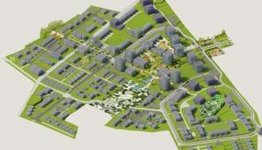 3D-illustrasjon av Sørby-Virik i Sandefjord.