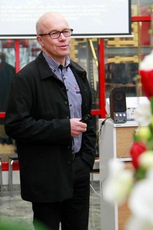 Adm. direktør Anders Jonsson var åpningen av den nye Vindeln-fabrikken i 2007.