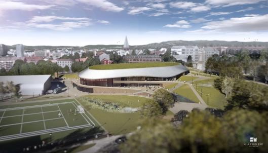 Nye Jordal Amfi skal bli Oslos hovedarena for ishockey, med et areal på ca. 11.550 kvadratmeter BRA.