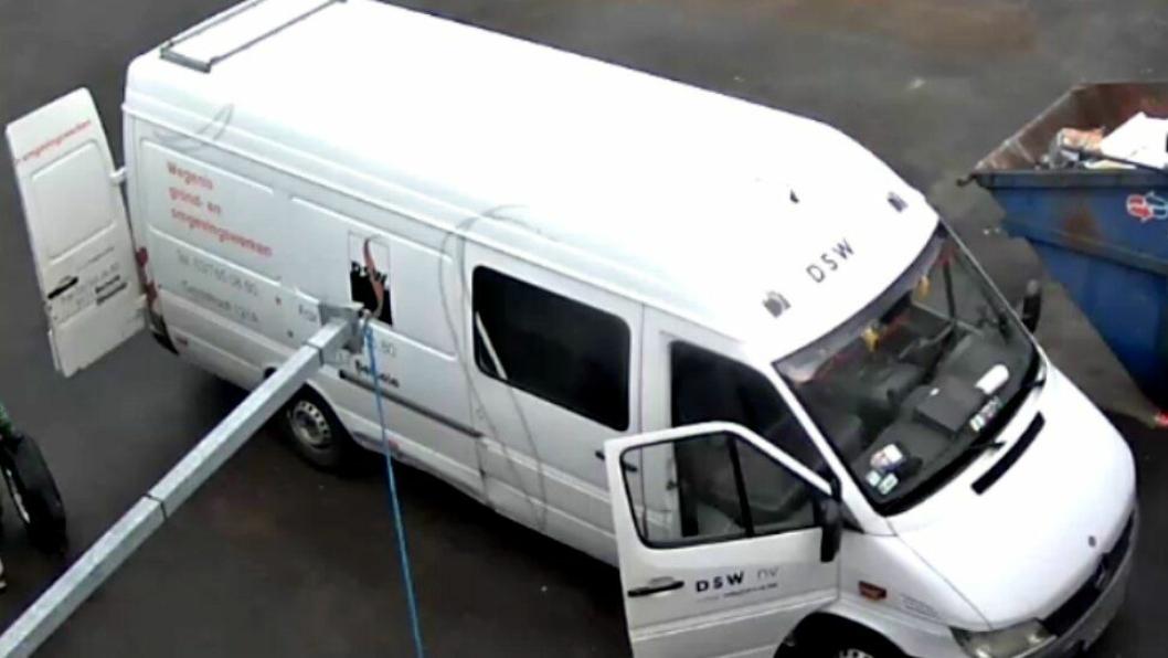 Bilde fra overfvåkingkamera i forbindelse med tyveriet.