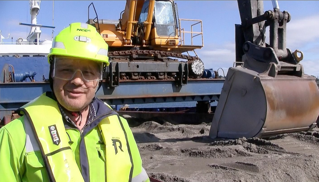 Ronny Sørås, avdelingsleder steinmaterialer i NCC Industry.