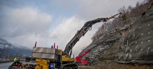 Åtte tilbud på veibygging i Kåfjord