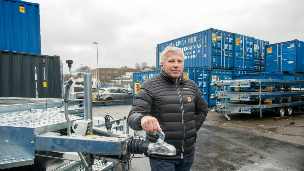 Utleiecontainere har vært viktig for Helge Kristoffersen i Bergen. I år regner de med å levere container nr. 10.000.