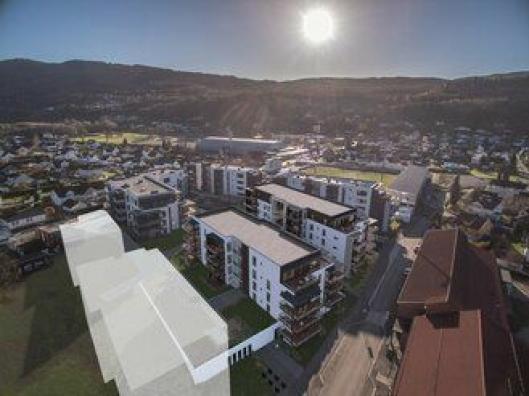 Det er 25 nye leiligheter med en prisantydning på mellom 3,2 og 7,7 millioner som nå skal bygges ut i Stadionkvartalet i Mjøndalen.
