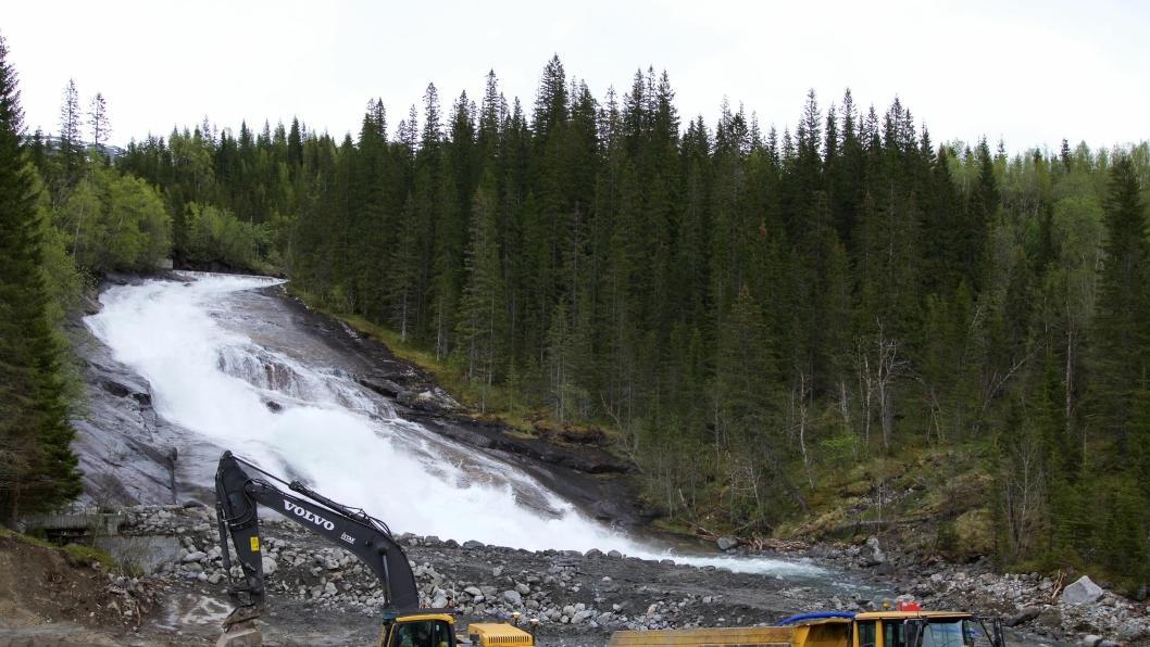 Pågående anleggsarbeider i tilknytning til Storelva kraftverk, Tosbotnprosjektet.