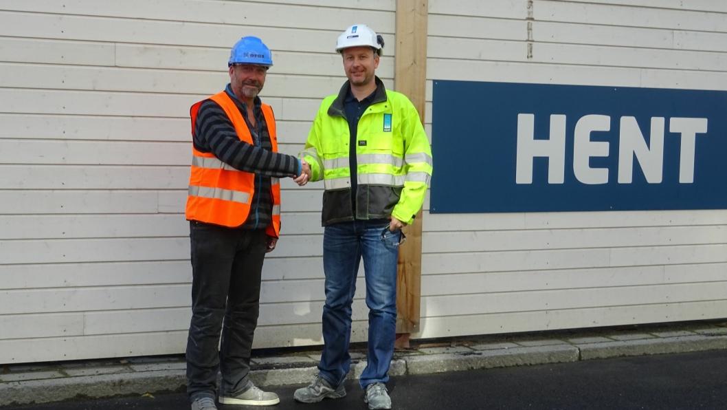 Fra venstre: Prosjektleder Håvard Asla (Oras) og prosjektleder Tore Kvalen (Hent).