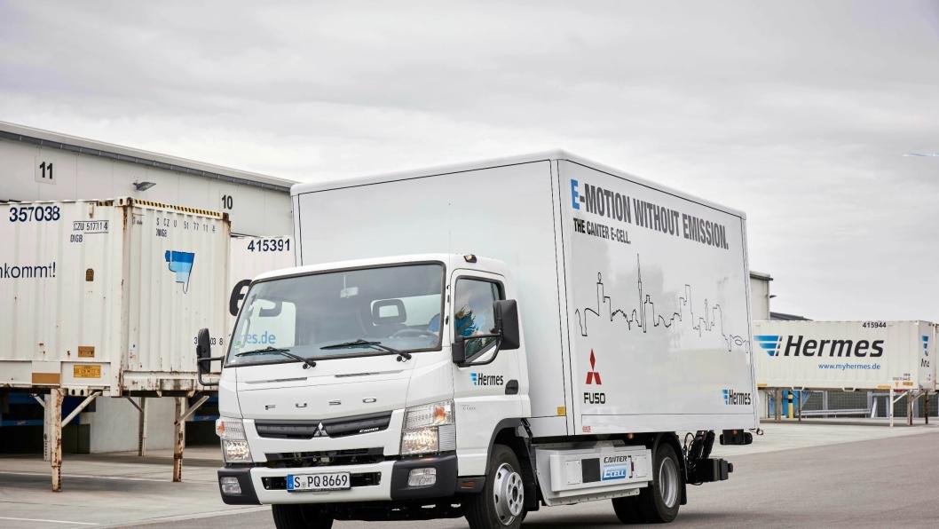 ELEKTRISK: Fuso starter nå serieproduksjon av den lille helelektriske distribusjonslastebilen eCanter.