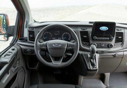 Interiøret i nye Ford Transit Custom.
