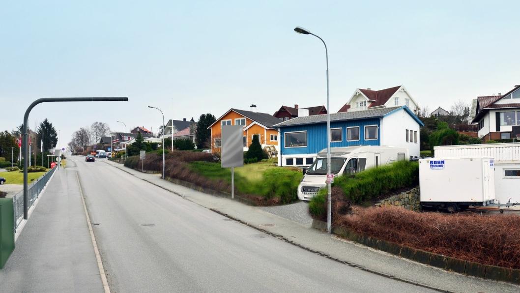Slik ser de nye bomstasjonene ut. Bildet er fra Roald Amundsensgate i Sandnes.