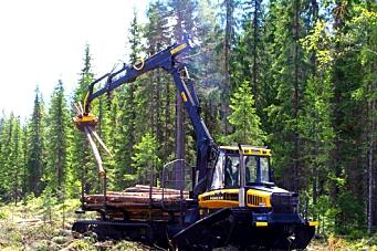 Ny skogsmaskin vist på Lillehammer