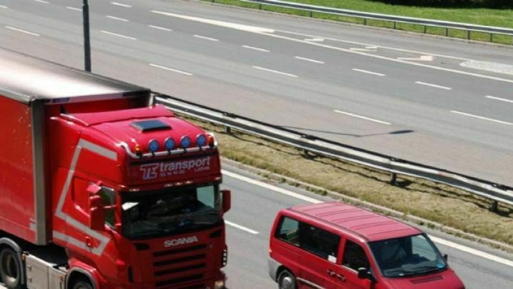 Illustrasjonsbilde sendt ut sammen med NAFs pressemeling om at tungbiler betaler for lite for sin veibruk.