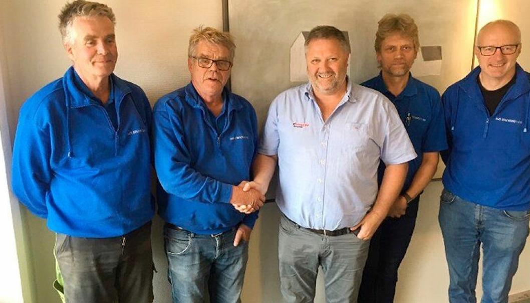 Fra venstre: Sigurd Jr Stenersen, Bjørn Stenersen, Trond Musdalslien, Kristian Hattestad og Anders Kvisberg.