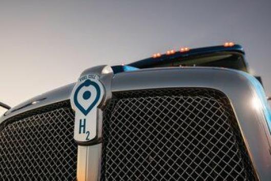 Logoen i fronten på konseptbilen.