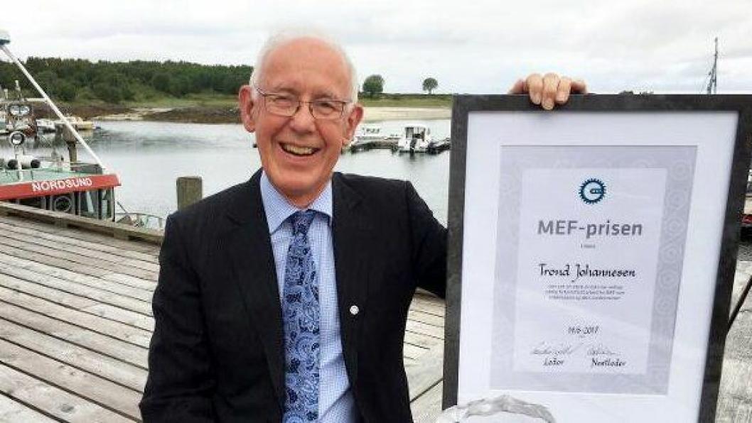 Trond Johannesen er tildelt MEF-prisen.