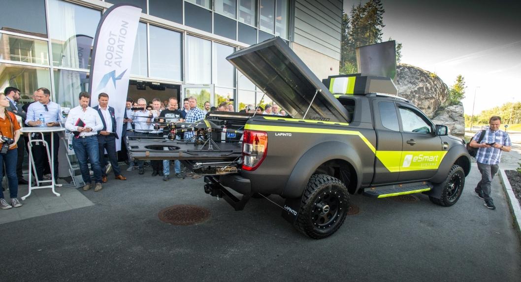 Ford Ranger Wildtrack med dronepådygg fra Lafinta hadde verdenspremiere i Halden.
