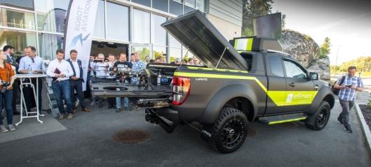 Norsk Ford Ranger dronebil