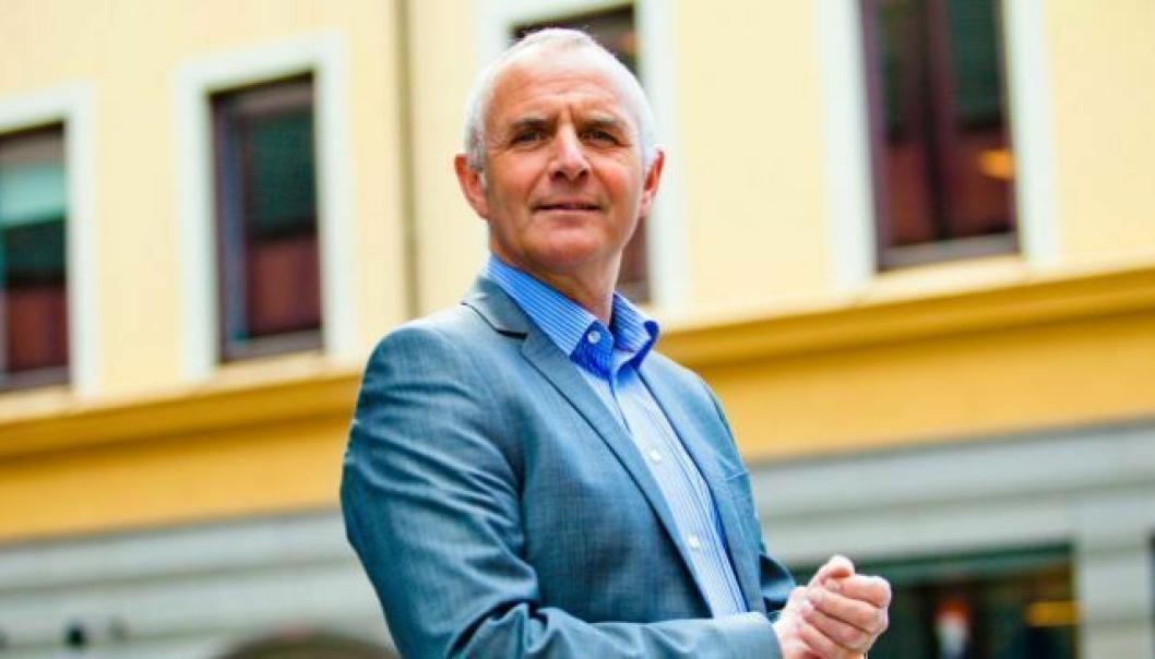 Forbundsleder Odd Christian Øverland i Postkom.