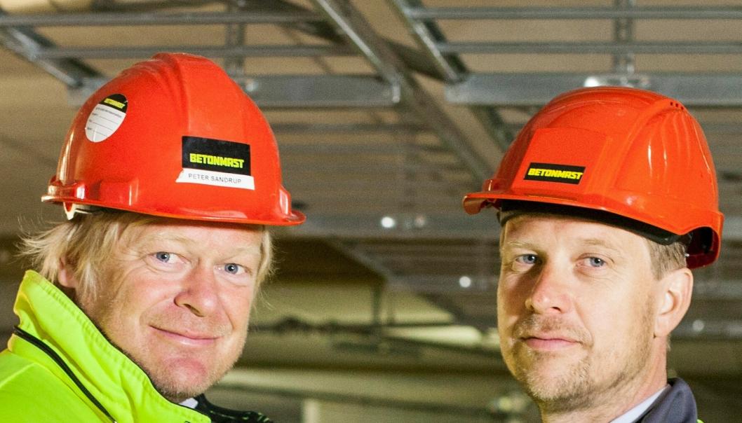 Peter Sandrup (t.v.) og Jørgen Evensen fra BetonmastHæhre representerer Norge på World Entrepreneur Of The Year 7.-11. juni 2017.