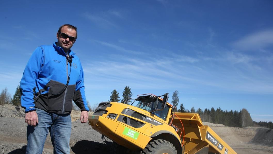 Lars Dahle bygget ekstremløypa som ble brukt under Volvo Anleggsdager 2017 i Akershus. Han er produkspesialist, demofører og opplæringsansvarlig i Volvo Maskin AS.