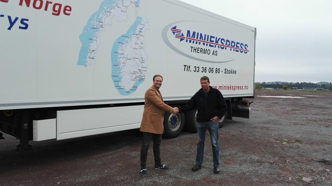 Både daglig leder Poul Erik Hoffmann (t.v.) i Alås og daglig leder Kaj Sigurd Gjerstad i Alås-kunde Miniekspress har innsett det økende behov for alkolås blant yrkessjåfører.