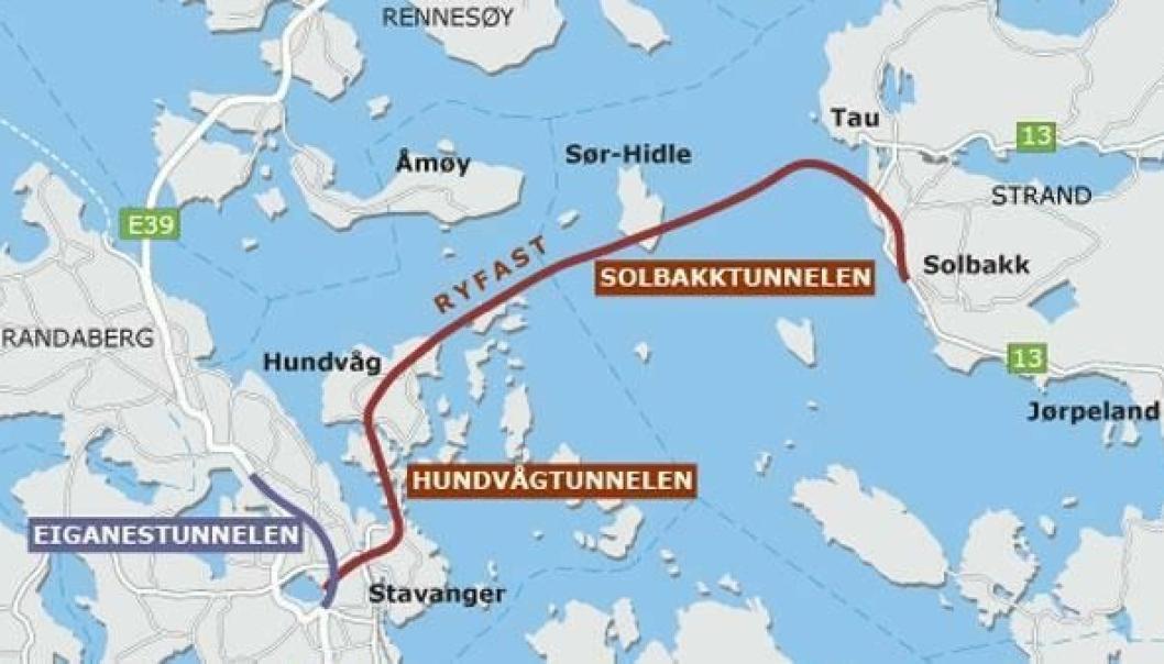 Tucon og Marti IAV Solbakk DA står for tunneldrivingen fra Strand-siden i Ryfylketunnelen (Ryfast).