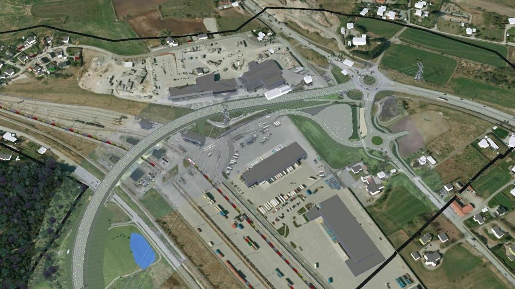 Brunnholen bru skal bygges over godsterminalen på Ganddal.