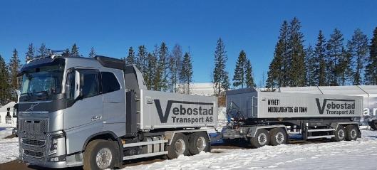 Vebostads nye modulvogntog - nyttelast 38,3 tonn