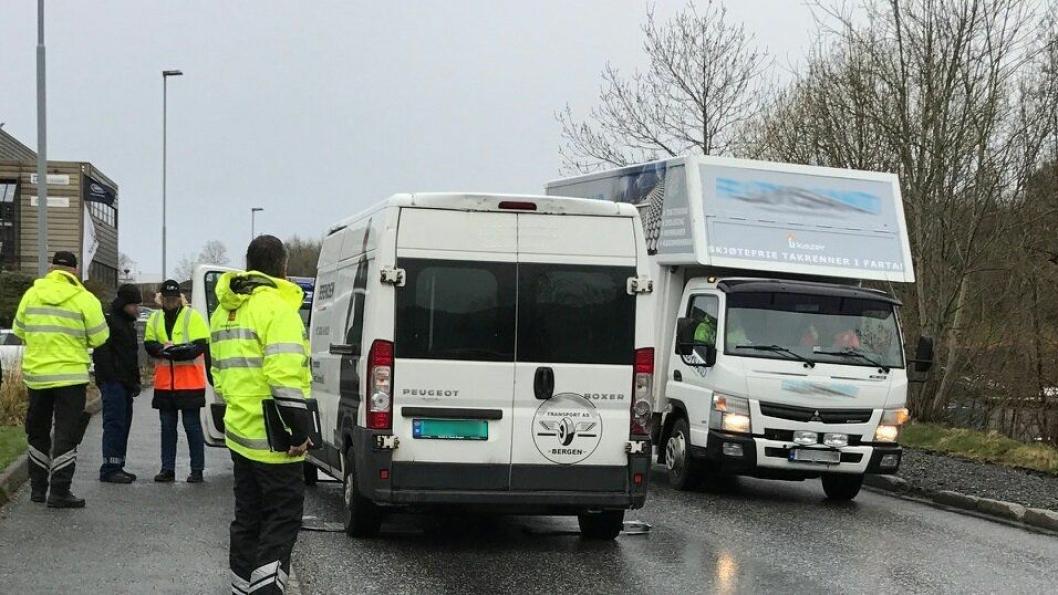 Statens vegvesen, Arbeidstilsynet, politiet og Skatteetaten var på kontroller av varebiler i Oslo, Bergen og Trondheim 27. april. Sjåfører, transportbedrifter og transportkjøpere ble sjekket i den store aksjonen.