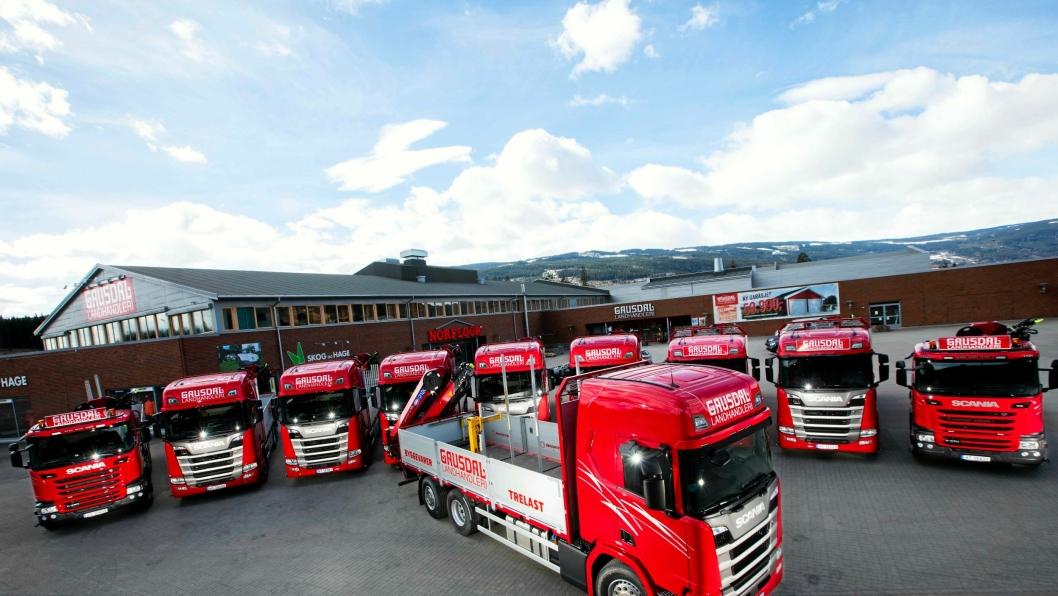 De ti nye bilene representerer den største enkeltleveransen av Scania til Gausdal Landhandleri og også den største Scania-leveransen i Lillehammer/Gudbrandsdalen.