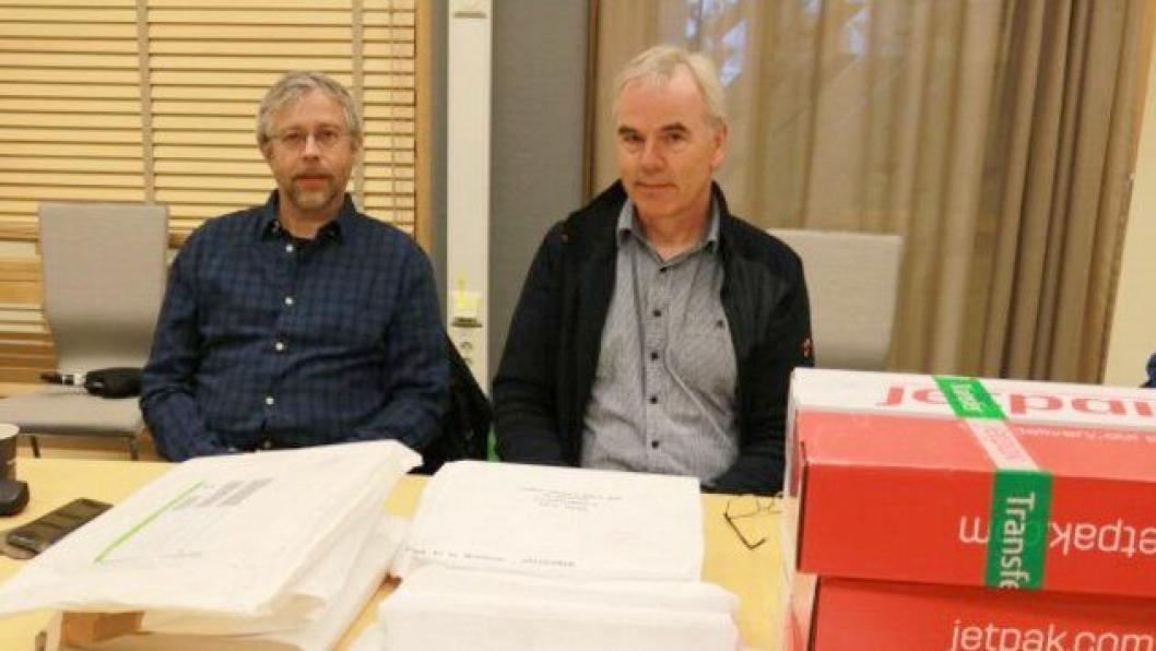 Terje Fugelsnes (t.v.) og prosjektleder Odd Helge Innerdal.