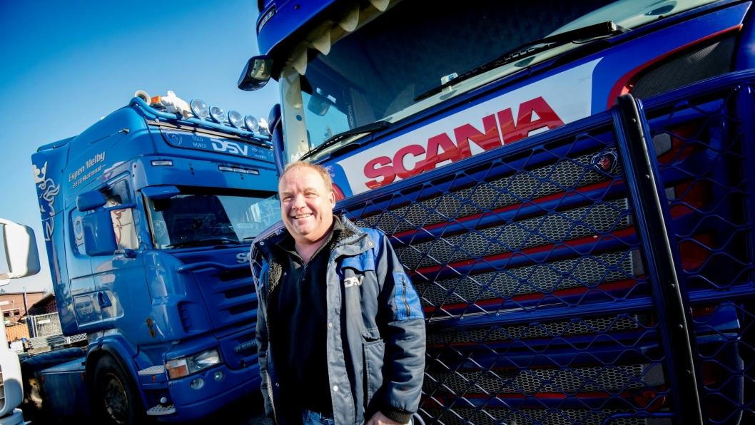 Espen Melby har fire Scania-er med over millionen kilometer bak seg. Flest har R580-en han har kjørt selv 1,7 millioner uten feil.