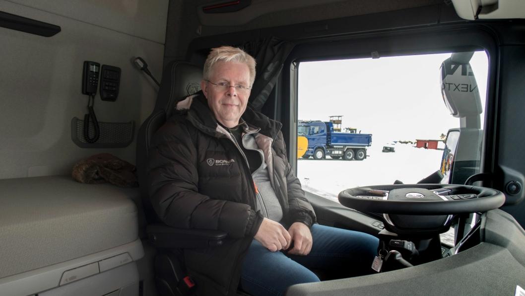 Adm. direktør i Norsk Scania, Frode Neteland. Bildet er tatt i forbindelse med Scania Winter 2017 i Trysil.