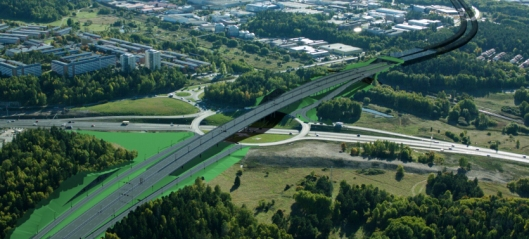 Veidekke Implenia bygger stort veikryss