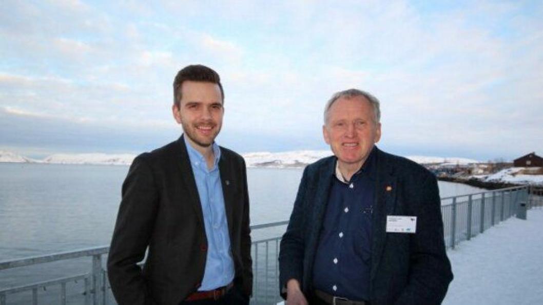 Regiondirektør Jan Morten Hansen i Kystverket og regionvegsjef Torbjørn Naimak ønsker å starte arbeidet med regulere Høybukta vest.