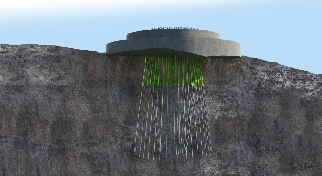 Slik forankres fundamentene på turbinene.