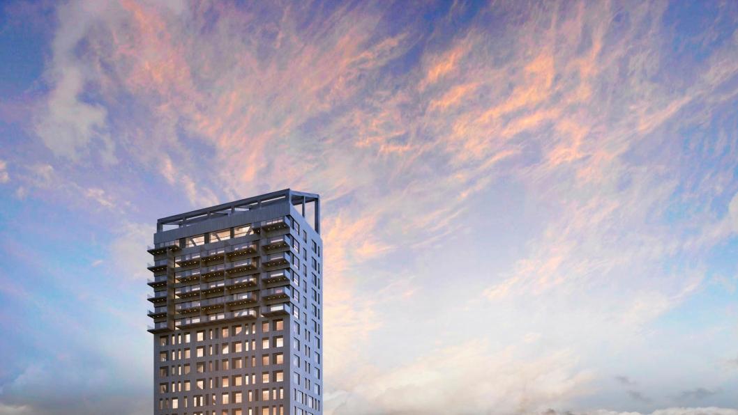 Mjøstårnet skal bli verdens høyeste trehus - 80 meter høyt med 18 etasjer.